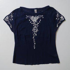 Florcat ANTHRO embroidered boho blouse sz. 4 Small
